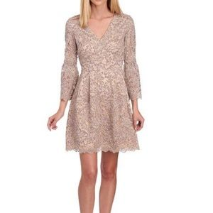 Eliza J Lace Bell 3/4 Sleeve Fit and Flare Dress